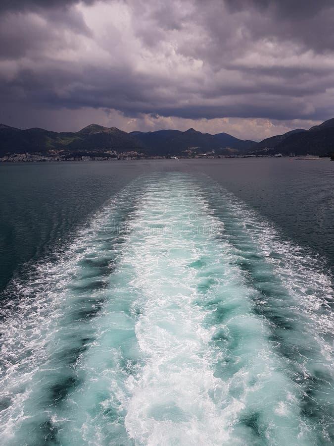 Sailing away. Sky royalty free stock photos