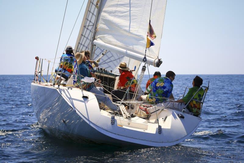 Sailing away royalty free stock photos