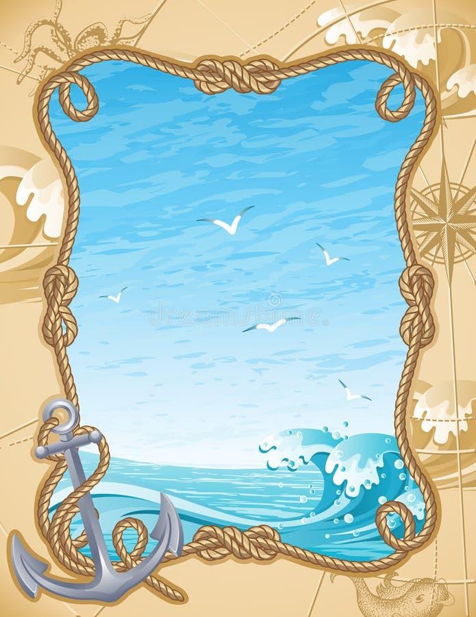 Sailing background. Vector illustration - old-fashioned sailing background