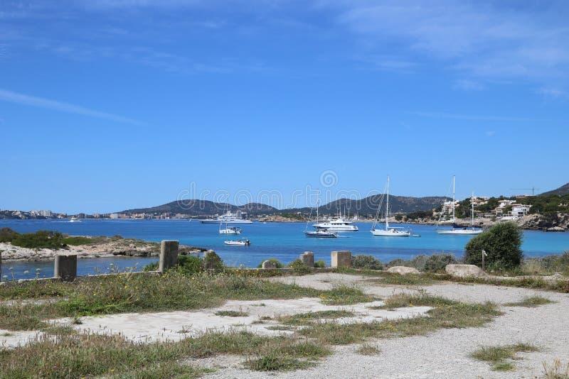 Sailing on the Balearics royalty free stock image