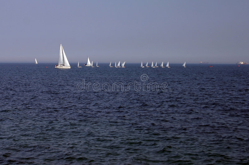 Sailing on Baltic sea stock photo