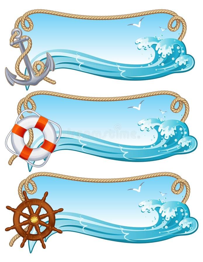 Sailing banner stock illustration