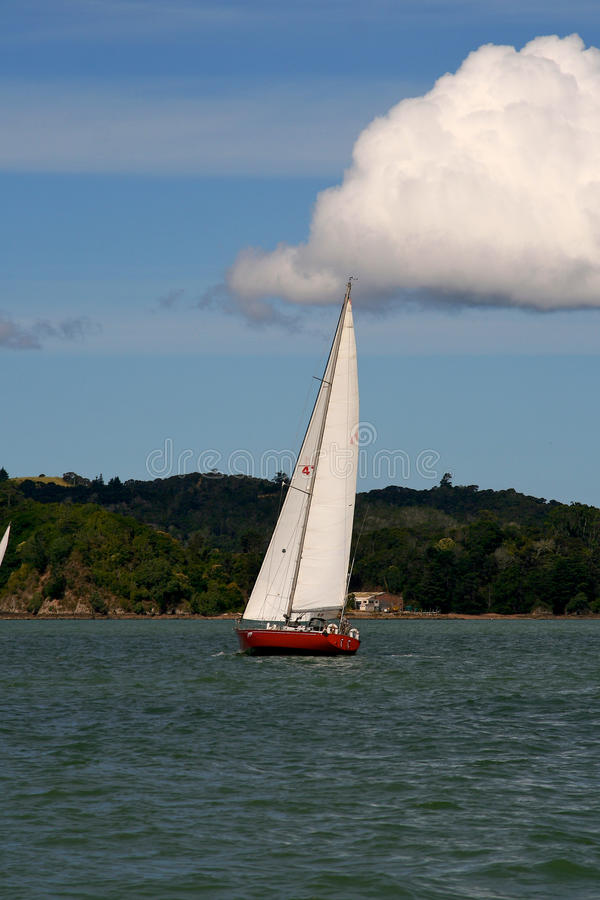 Sailing in the Bay of Islands,New Zealand. Yacht sail in the Bay of Islands,New Zealand stock images