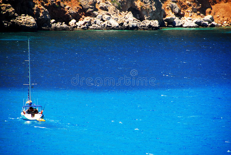 Download Sailing into the Blue stock image. Image of holidays - 23956411