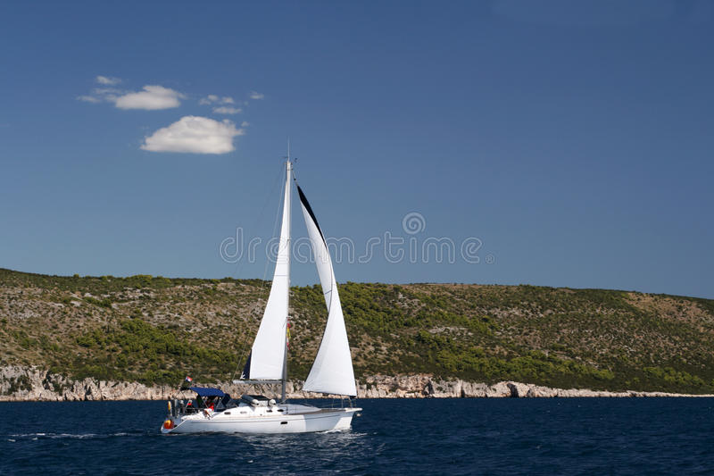 Download Sailing Boat stock photo. Image of sailboat, calm, cloud - 10969500