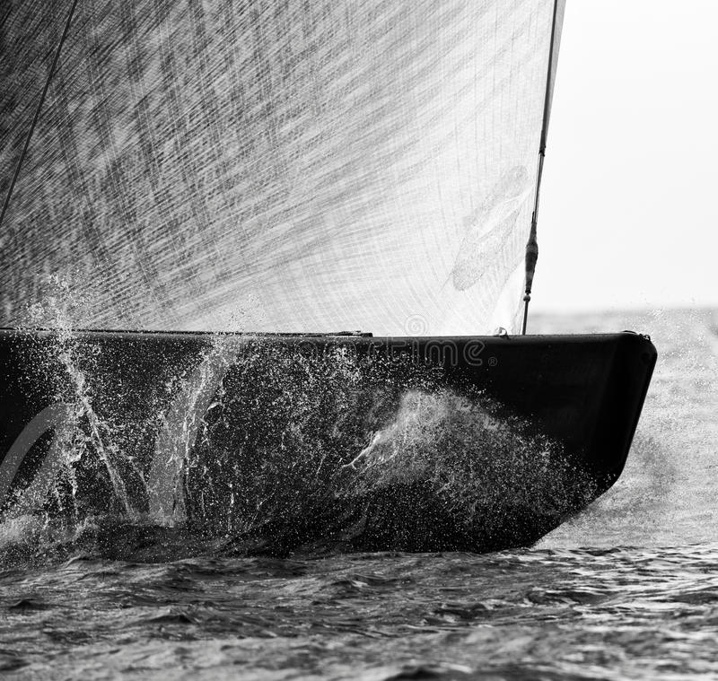 Sailing boat. Class America during a match racing royalty free stock images