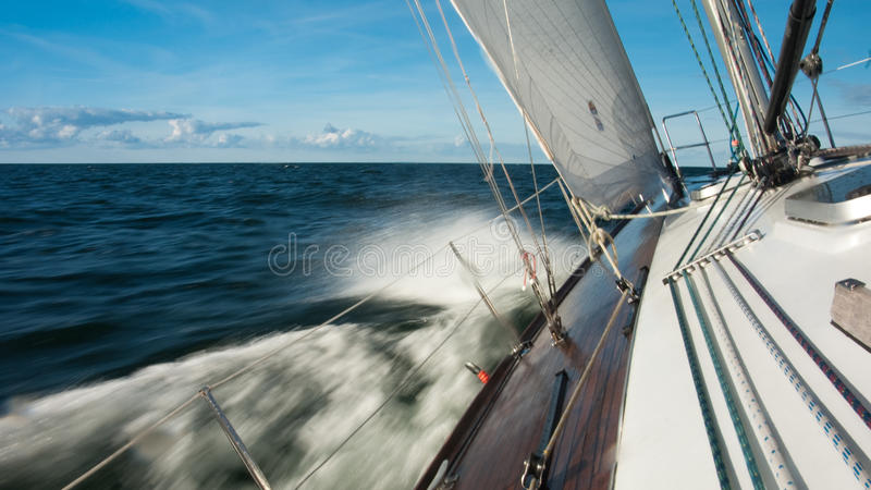 Download Sailing boat stock image. Image of success, horizon, leisure - 16415493