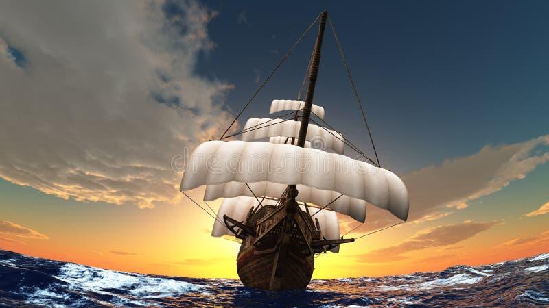 Sailing boat stock illustration