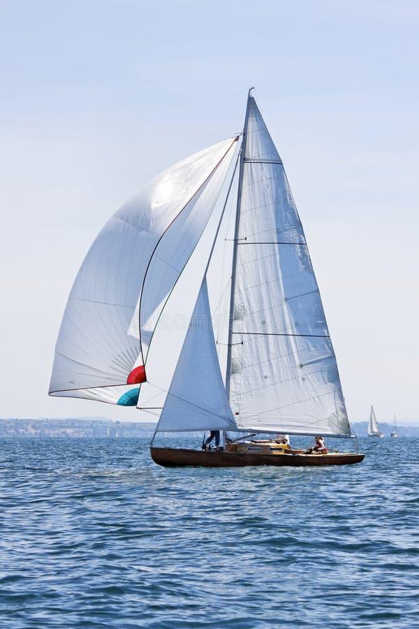 Sailing boat. On the lake stock photos