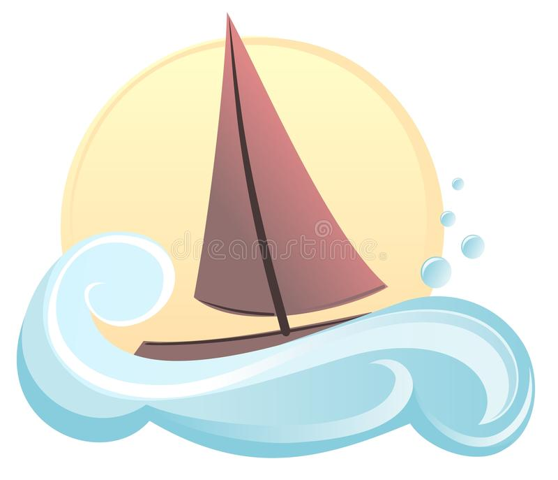 Download Sailing boat stock vector. Image of yacht, boat, holiday - 22892548