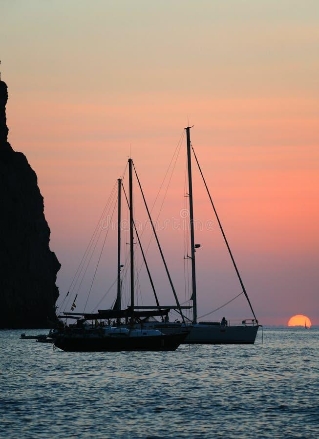 Free Sailing Boat At Sunset Stock Image - 27757801