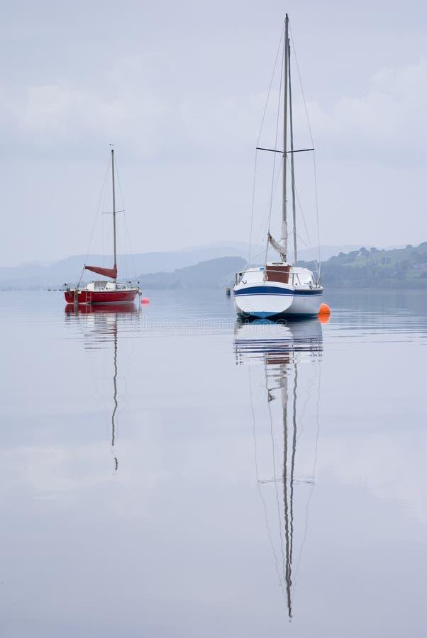 Sailing Boat On Bala Lake Royalty Free Stock Image