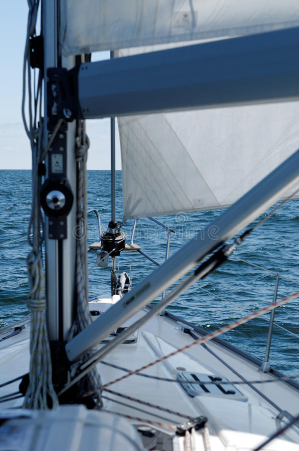 Download Sailing boat detail stock image. Image of crop, front - 20067349