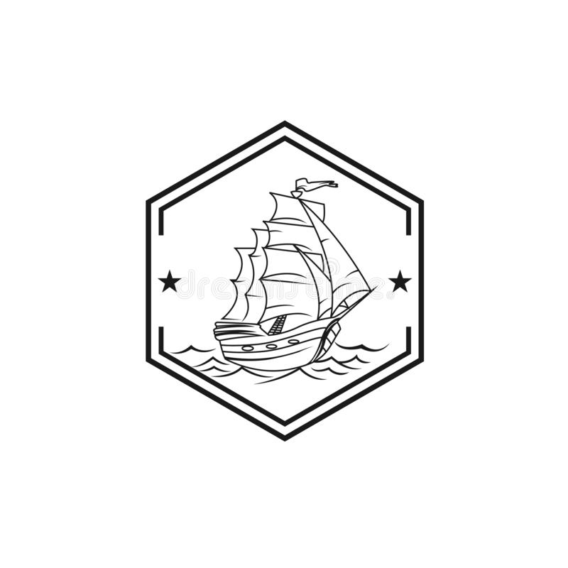 Sailing boat icon isolated on white background from amusement collection vector illustration