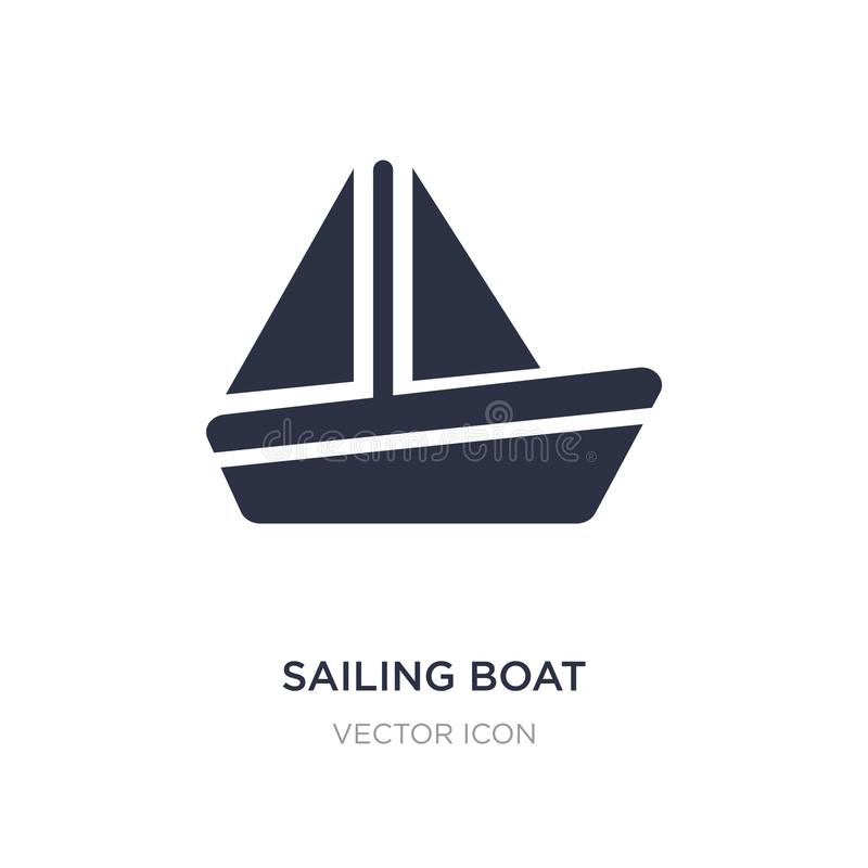 Sailing boat icon on white background. Simple element illustration from Entertainment and arcade concept. Sailing boat sign icon symbol design stock illustration