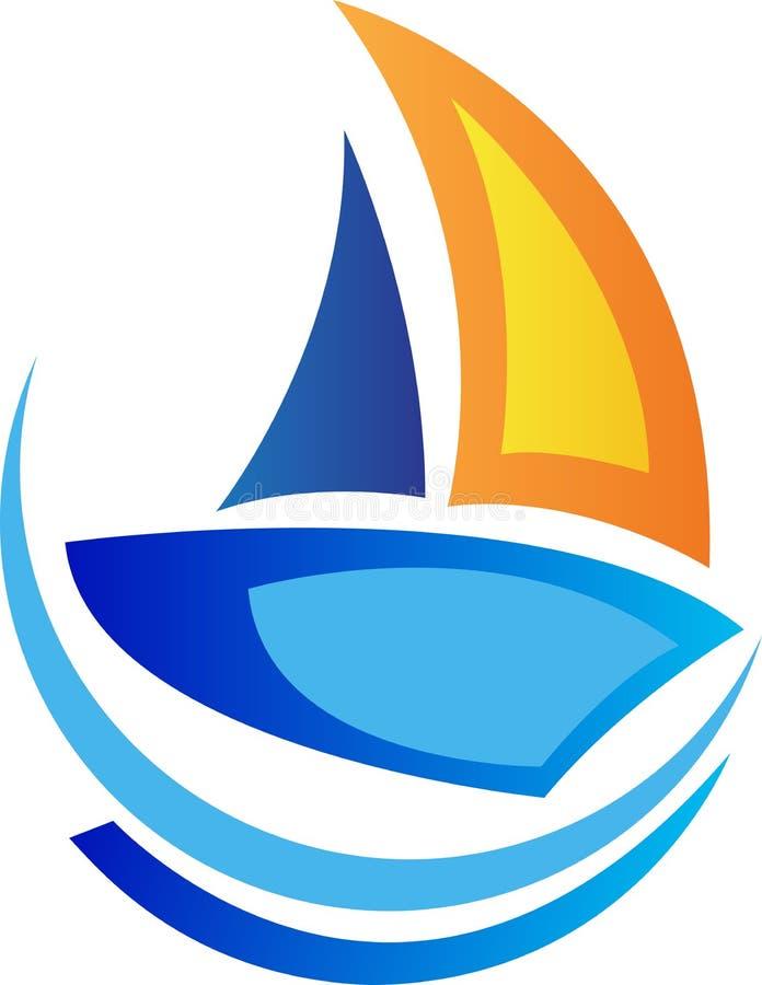 Sailing boat logo stock illustration