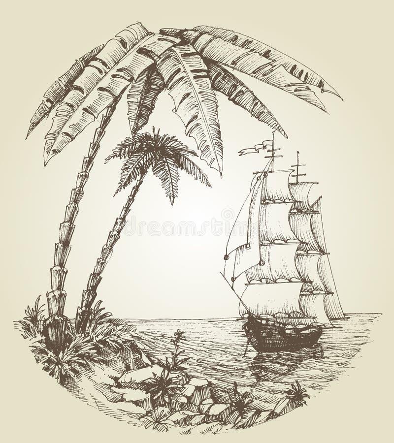 Free Sailing Boat On Sea Stock Image - 55375691