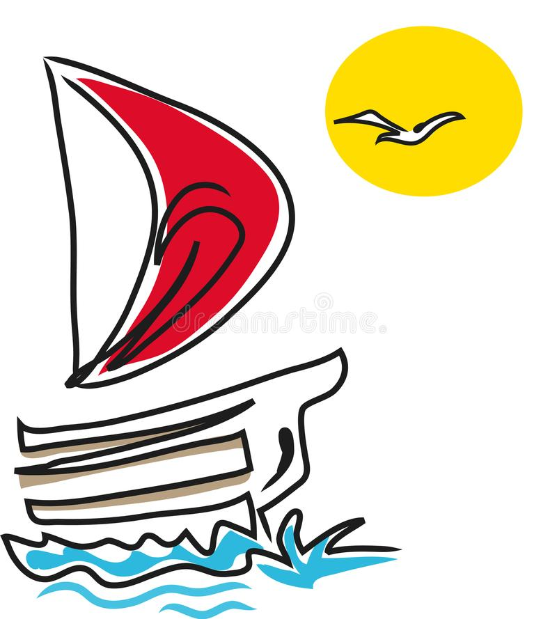 Download Sailing boat stock vector. Illustration of leisure, boat - 114346015