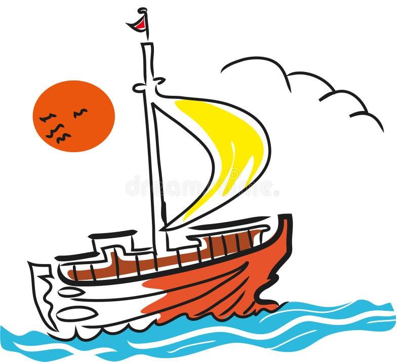Download Sailing boat stock vector. Illustration of boat, floating - 114346174