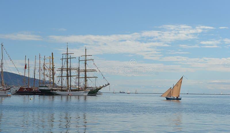 Sailing boat and tall ships
