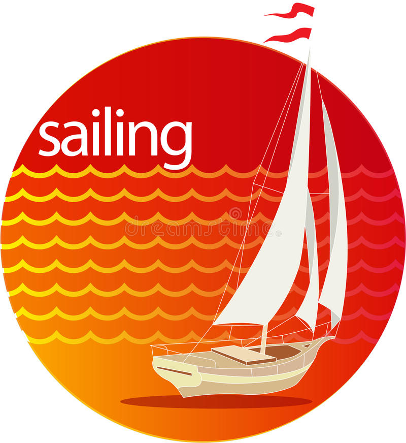 Download Sailing stock vector. Image of beach, background, calm - 31327322