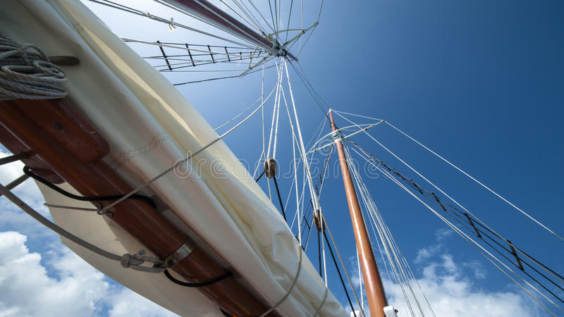 Download Sailing boat in the wind stock image. Image of ship, mainsail - 78093555