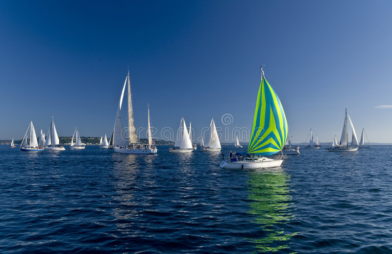 Download Sailing boats stock image. Image of compete, boats, outside - 4072811