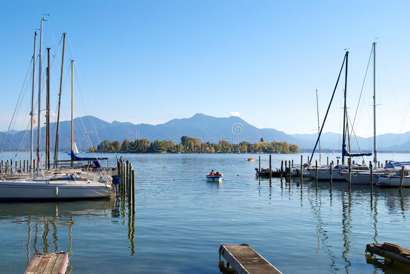 Download Sailing Boats Parking In Chiemsee Lake Pier Stock Photo - Image: 15086612