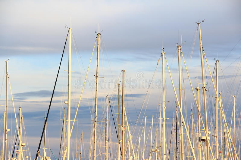 Download Sailing Boats And Stunning Sunset Stock Image - Image of harbour, navigation: 18654717