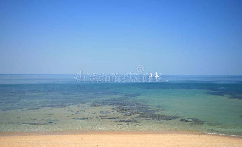 Download Sailing Boats In Tropical Water Stock Photo - Image: 13955866