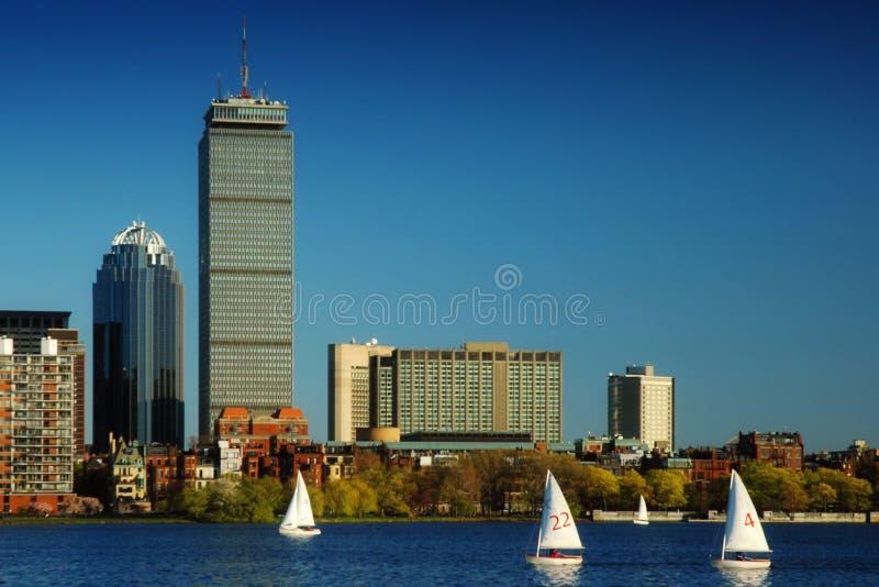 Sailing in Boston royalty free stock photos