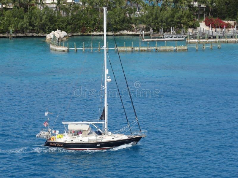 Sailing, calm, waters, blue, Bahamas, coastline, tropical, relaxing, sunny, beautiful royalty free stock photo