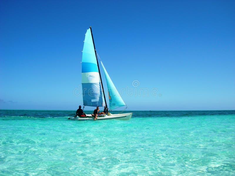 Sailing at the caribbean sea royalty free stock photography