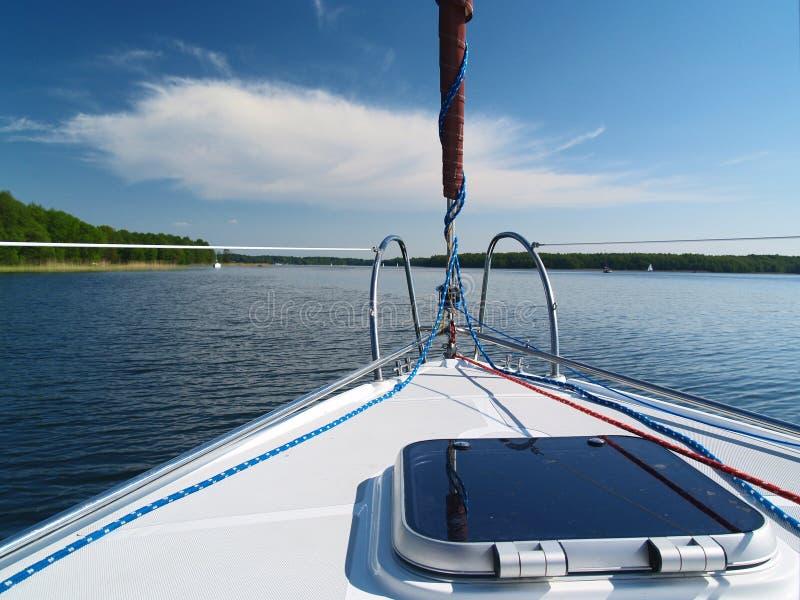 Sailing deck stock photo