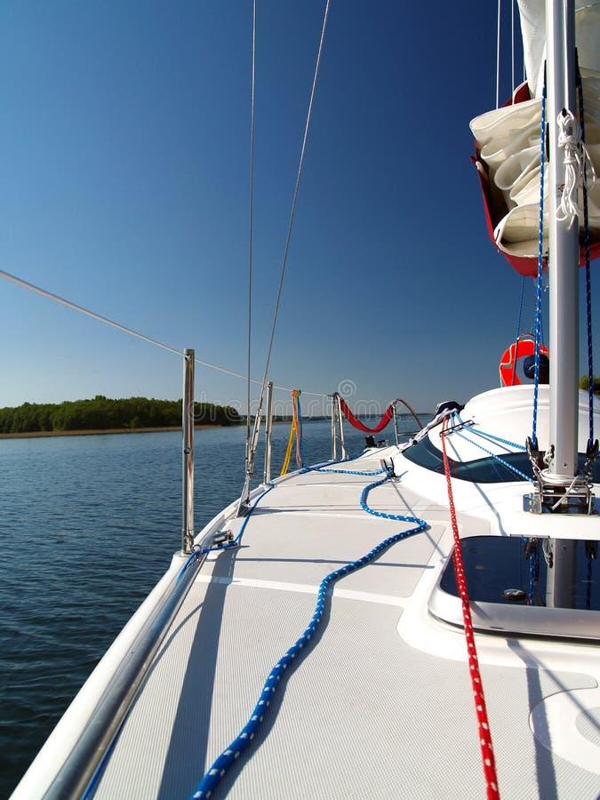 Sailing deck royalty free stock photos
