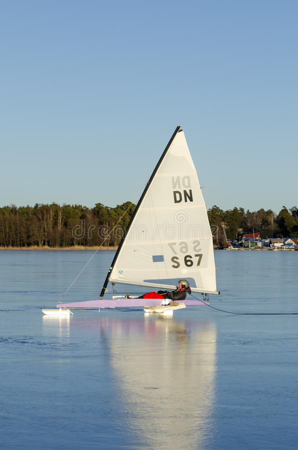 Download Sailing DN iceboat editorial image. Image of sailing - 29677360