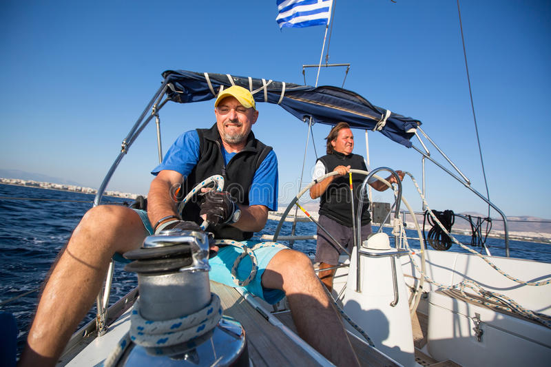 Sailing, extreme sports, luxury leisure and healthy lifestyle. royalty free stock photo