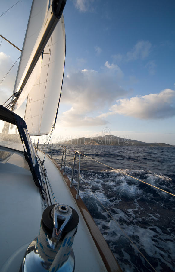 Download Sailing in Greece stock image. Image of equipment, round - 15039045