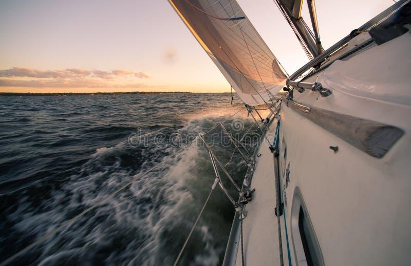 Sailing high wind stock image