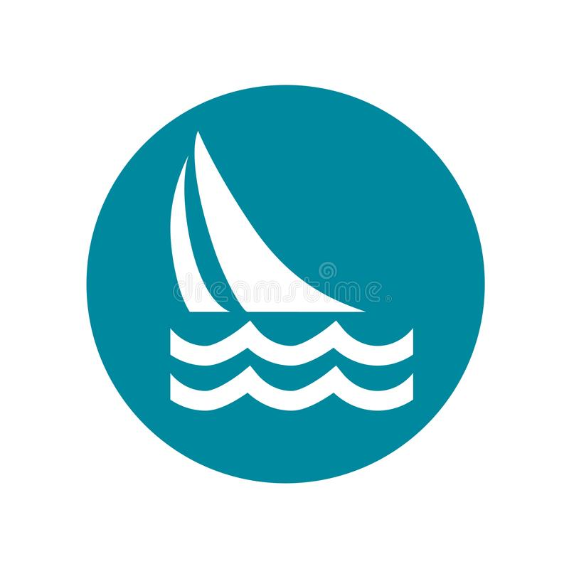 Sailing Icon No. 4. Sailboat, sailing. Easily editable, colorable flat vector icon, isolated on transparent background royalty free illustration
