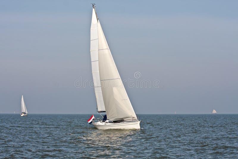 sailing ijsselmeer нидерландский стоковая фотография