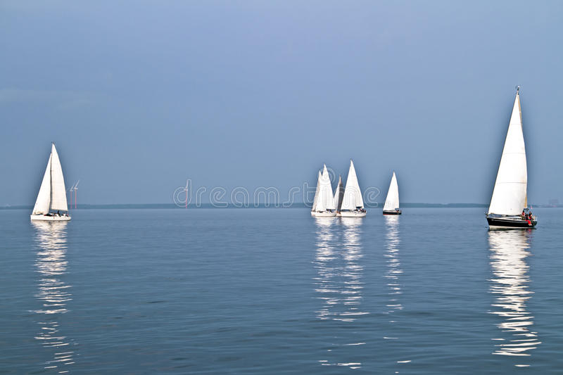Sailing on the IJsselmeer in the Netherlands stock photo