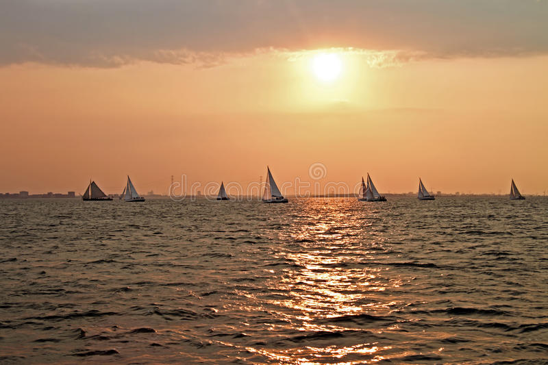Download Sailing On The IJsselmeer In The Netherlands Royalty Free Stock Images - Image: 26087059
