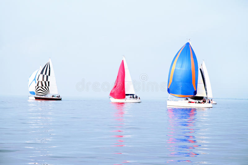 Sailing on the IJsselmeer in Netherlands stock photography
