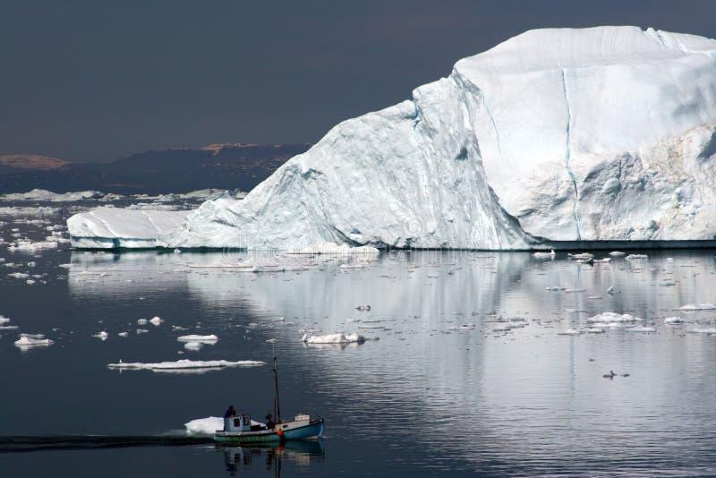 sailing ilulissat диско залива стоковая фотография