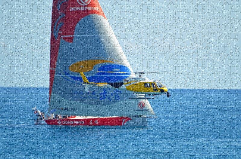 Sailing Jigsaw Puzzle stock photos