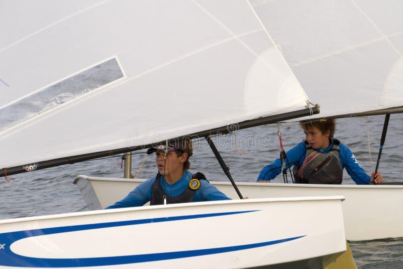 Sailing Kids royalty free stock images