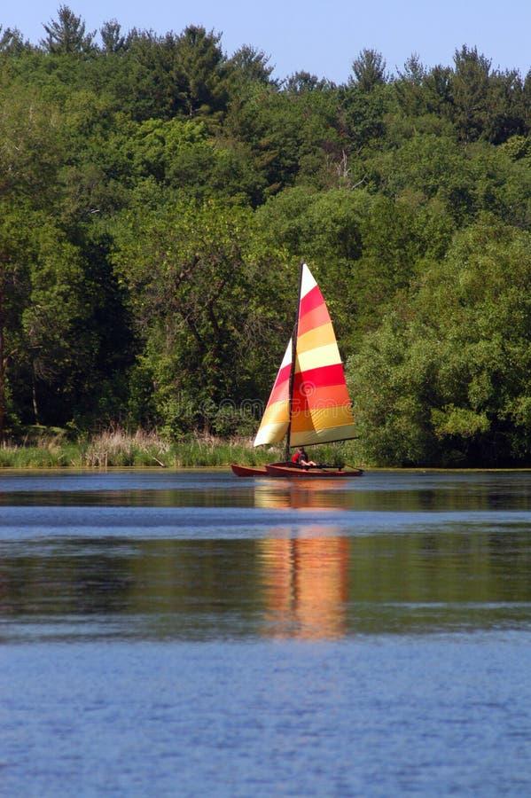 Sailing On A Lake Royalty Free Stock Image