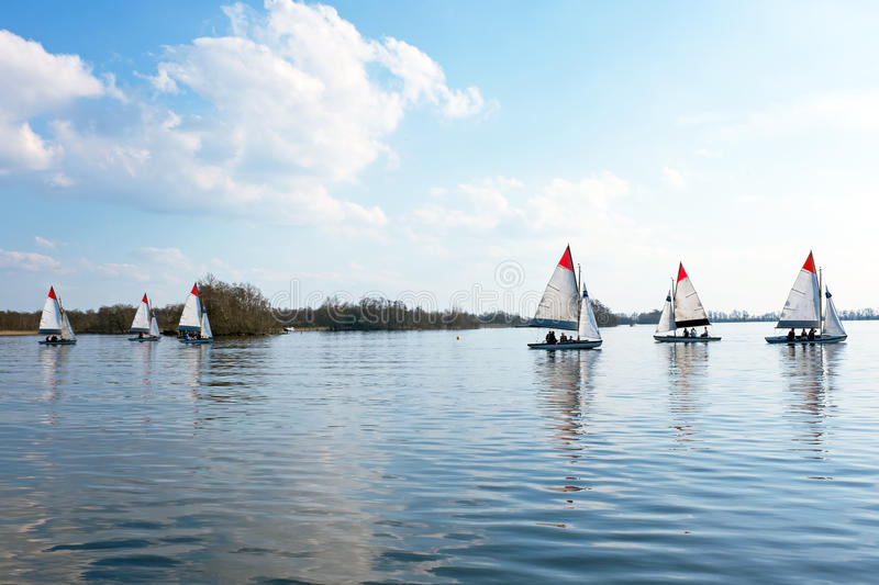 Sailing on the Loosdrechtse Plassen in Netherlands royalty free stock images