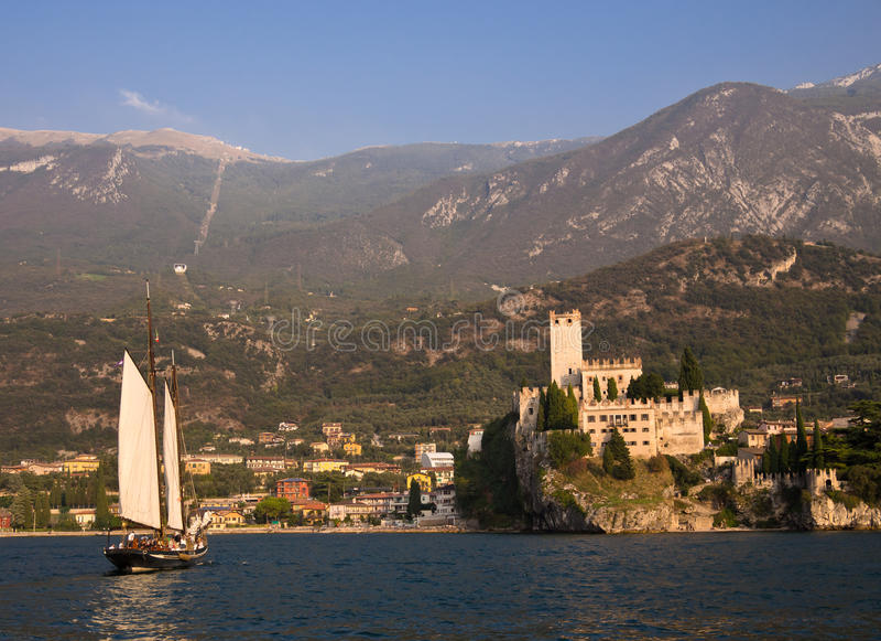 Download Sailing Into Malcesine Lake Garda Italy Editorial Photography - Image: 26969377